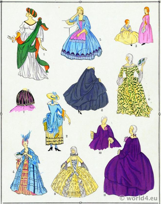 Robes, mode, Louis XV, Costumes, rococo,