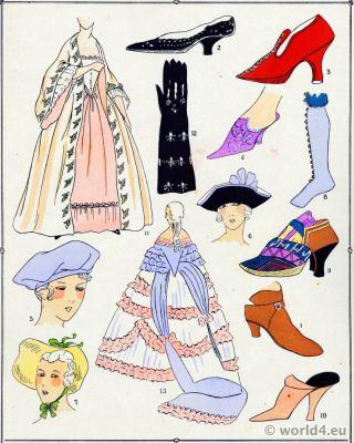 Chaussure. La mode Louis XV. Costumes de rococo. 18 vêtements de siècle.