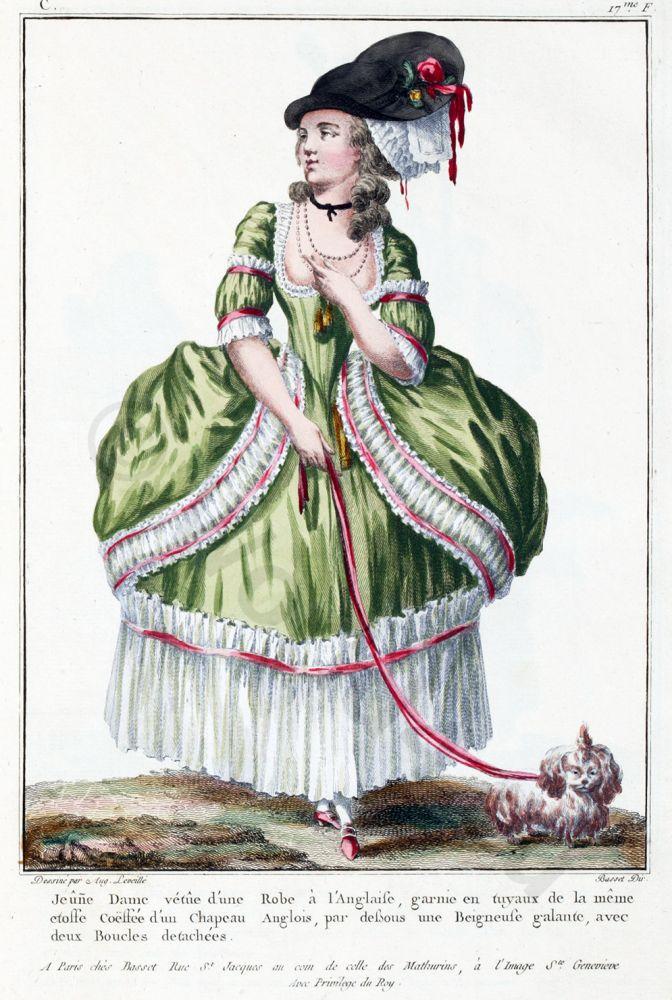 Robe, Anglaise, Louis XVI, Court dress, Rococo, fashion history, 18th century