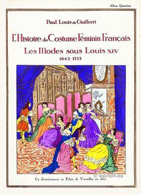 Louis XIV fashion. 17th century. Baroque fashion.