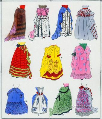 Louis XIV fashion. Jupes. 17th century. Baroque fashion.