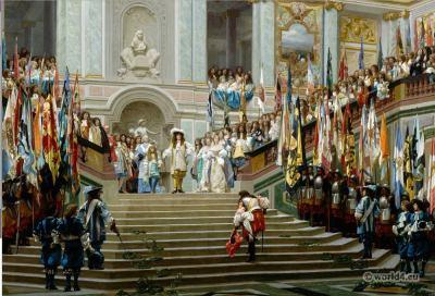 Réception, Condé à Versailles. Louis XIV, 17th century clothing, baroque fashion