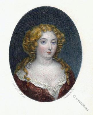 Madame de Montespan. Mistress. Lous XIV. Baroque fashion. 17th century nobility