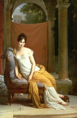French Merveilleuse. Juliette Récamier. Revolution costumes. France Directory fashion