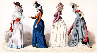 Fashion history. The French Republic. Revolution. Historical clothing