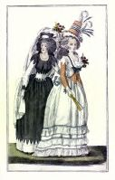 French revolution costumes. 18th century clothing. directoire period fashion