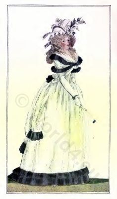 Mode parisienne. French Revolution costumes. Directory fashion. Regency costumes