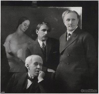Russian Artists Portraits Sergejewitsch Stanislawski, Savely Sorine, Wassili Katschalow 1924. Russian Artists