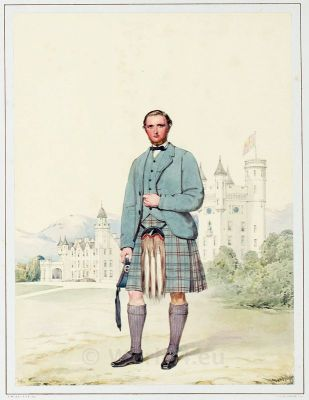 Archibald Anderson Brown. Highlander. Scotland. Tartan. Kilt. Traditional Scottish National Costume.