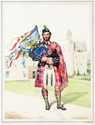 Scottish Piper, William Macdonald, Highlander, Scotland, Kilt, Tartan