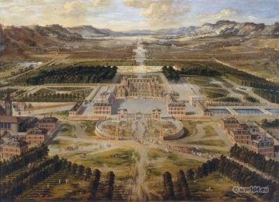 Château de Versailles, Pierre Patel. 17th century baroque architetecture