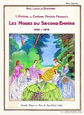 Les Modes du Second Empire 1852 a 1870. Victorian Era Fashion. 19th Century Costumes.