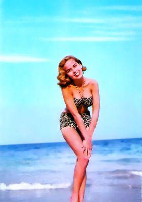 Vintage Bandeau Bikini1960s. Marilyn Monroe Style Fashion and Looks. Boho style bathing suit.