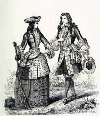Louis XIV. Farthingale, Corset and the Crinoline.
