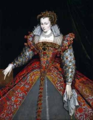 Louise de Lorraine. French queen.  Renaissance fashion era.