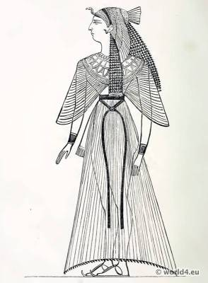 Ancient Egyptian costume Skirt. The Corset and the Crinoline. Egypt Queen and Nobel woman