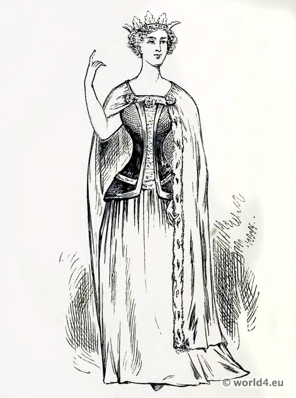 The Ladies of Old France. The Corset and the Crinolin