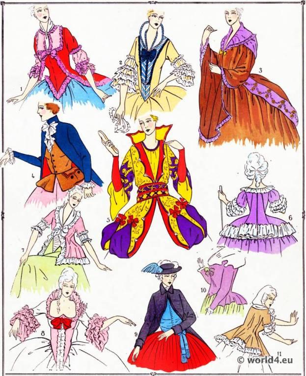 Rococo Bodices. Louis XVI. Marie Antoinette fashion.