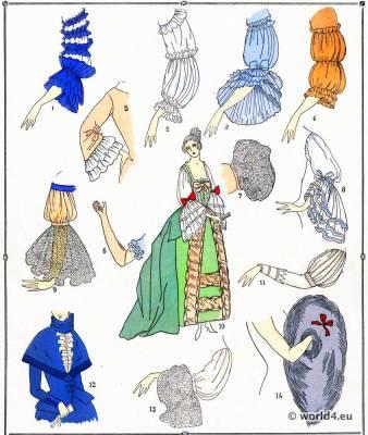 Manches.La mode Louis XVI. Costumes de rococo. 18 vêtements de siècle.