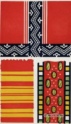 Ancient Egyptian Fabrics. Textile pattern