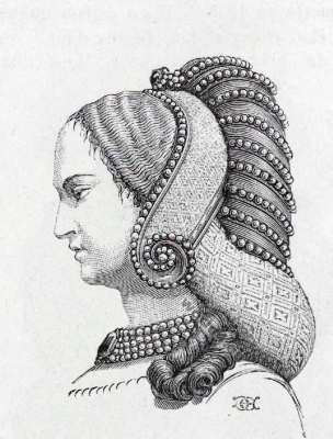 Coiffure Dame nobles moyen age