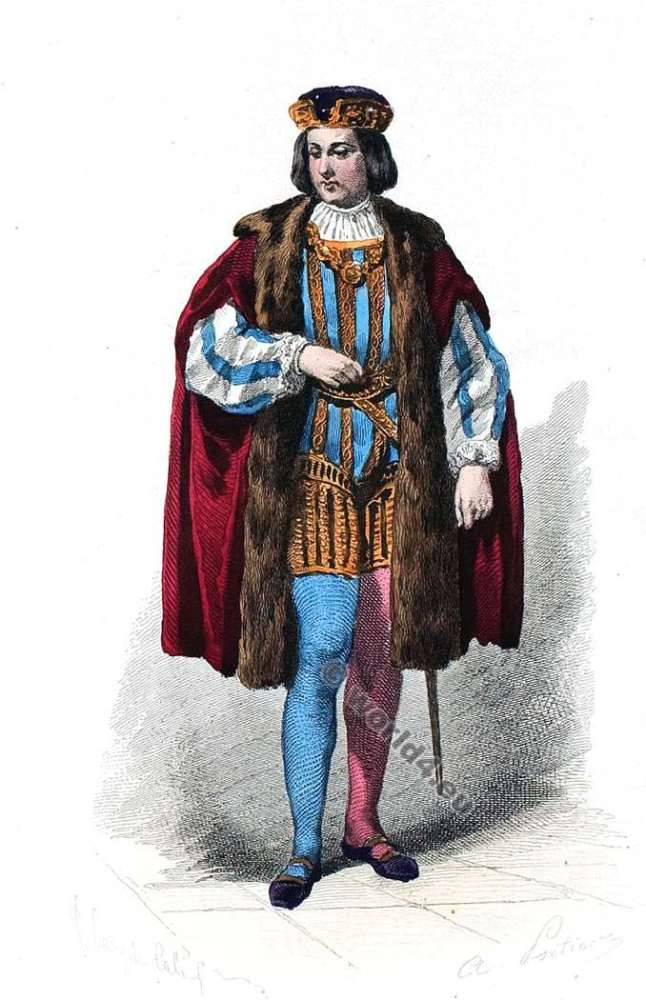 fashion, history, middle ages, Moyen Age, costume, Comte, Cour,  Louis XII,