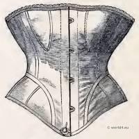 Common Cheap Stat, Fastened. Corset and Crinoline. Nineteenth-century Costume and Fashion