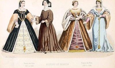 Renaissance, fashion, Francis I, 16th century, costumes.