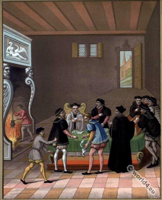 Renaissance, Henri II, College, Secretaries, Notaries,