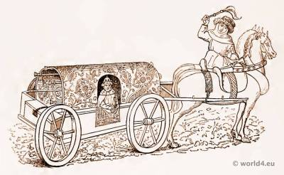 Medieval Coach of the 15th century