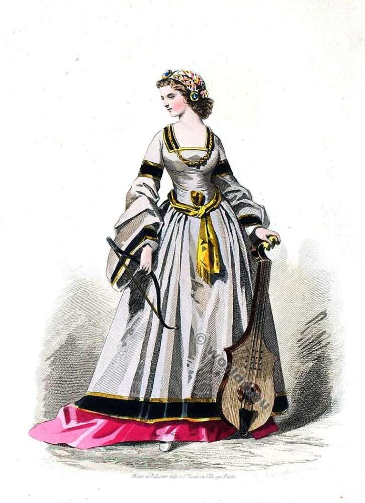 Costume, fashion,Renaissance, Cour de François Ier, Mode de 16ème siècle,