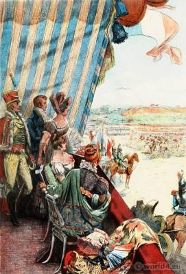 French Empire Costumes. Regency Fashion. France Revolution Uniforms. Albert Lynch, Eugène Gaujèan, Octave Uzanne.