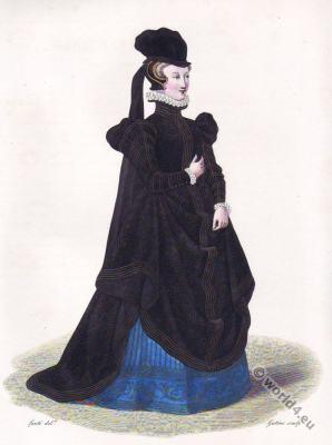 Dame de Belleville. Marie Touchet Comtesse d'Entragues. Renaissance fashion. 16th century court dress