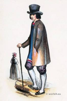Traditional Black Forest folk costume. Traditional German national costumes. Black Forest Ethnic garment.