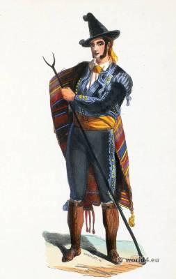 Majority of Jerez. Mexico folk costume. Traditional Spain national costumes. Spanish Ethnic garment.
