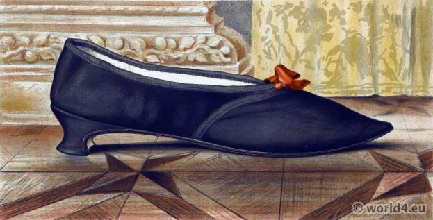Shoe 19th century victorian fashion.