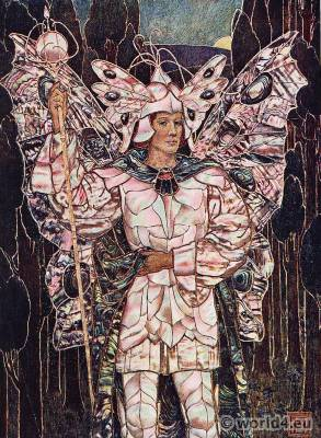 Fairy, fantasy costume. Art nouveau dress. Frederick Marriot
