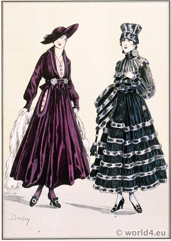 Jeanne Lanvin. Le style parisien. Art deco fashion magazine. French parisiennes collection haute couture