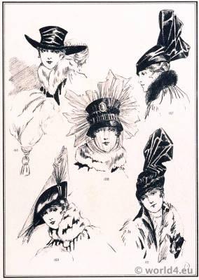 Hat Modèles de Maria Guy. Le style parisien. Art deco fashion magazine. French parisiennes collection haute couture