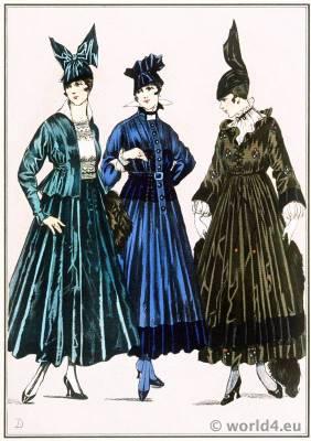 Breton style. Le style parisien. Art deco fashion magazine. French parisiennes collection haute couture