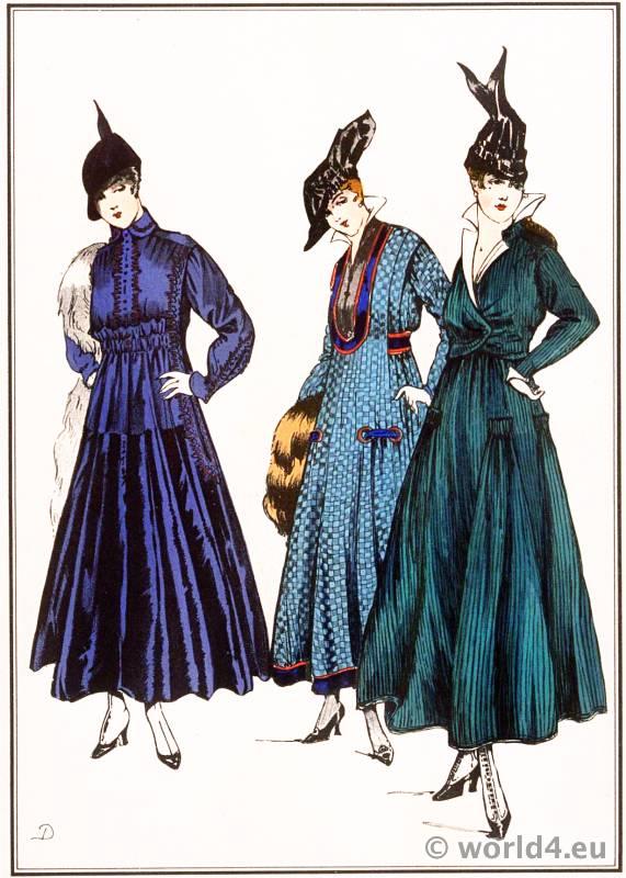Simple gowns. Lanvin, Dœuillet, Chéruit. Le style parisien. Art deco fashion magazine. French parisiennes collection haute couture