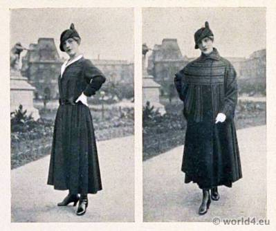 Haute couture dresses by Jeanne Lanvin. Art deco fashion magazine. French parisiennes collection. Le style parisien.