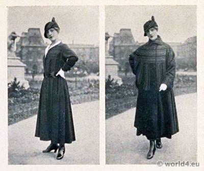 Art deco dresses by Jeanne Lanvin. Art deco fashion magazine. French parisiennes collection haute couture. Le style parisien.