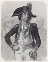 Portrait Antoine Joseph Santerre. French Revolution History. 18th military century costume