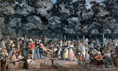 La Promenade Publique. Philibert Louis Debucourt.