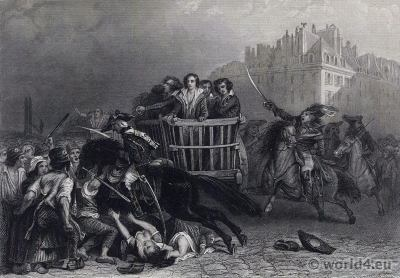 French Revolution History. Reign of Terror. Directoire costumes