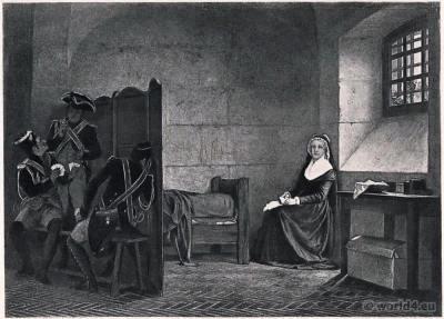 Imprisonment of Marie Antoinette. French Revolution History