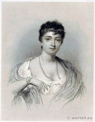 Madame Tallien. Coiffure Titus. French Revolution costume. Directoire costume.