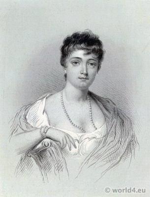 Thérésa Cabarrus, Madame Tallien, Notre-Dame de Thermidor. Fashion neo Greek style. Regency fashion