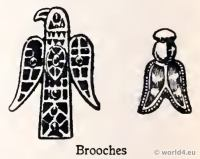 Merovingian Brooches. Frankish jewellery. Bee Queen Brooch